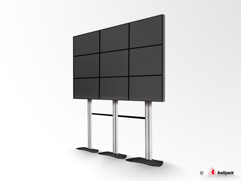 Flat Panel Video Wall Floor Stand Quick Release Audipack