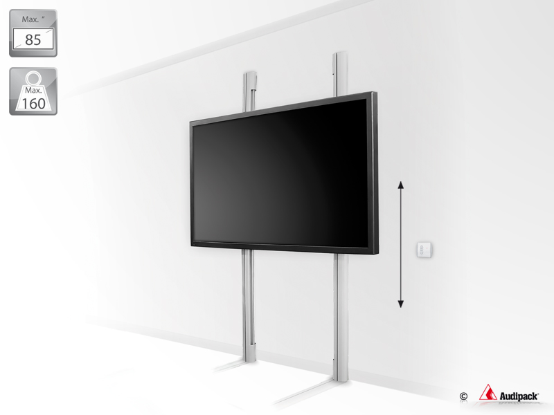 Wall Mounted Lift System For Flat Panels Up To 160 Kg