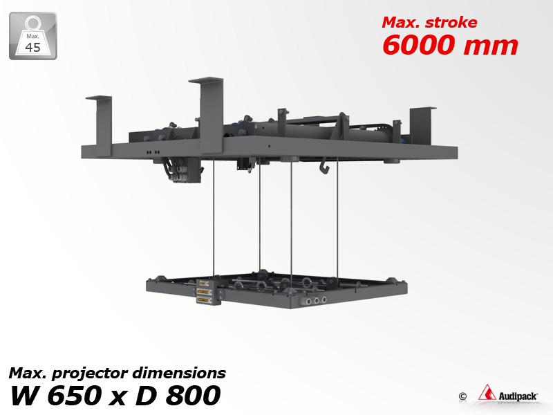 Pulley lift for projector max  45 Kg, stroke 6000 mm