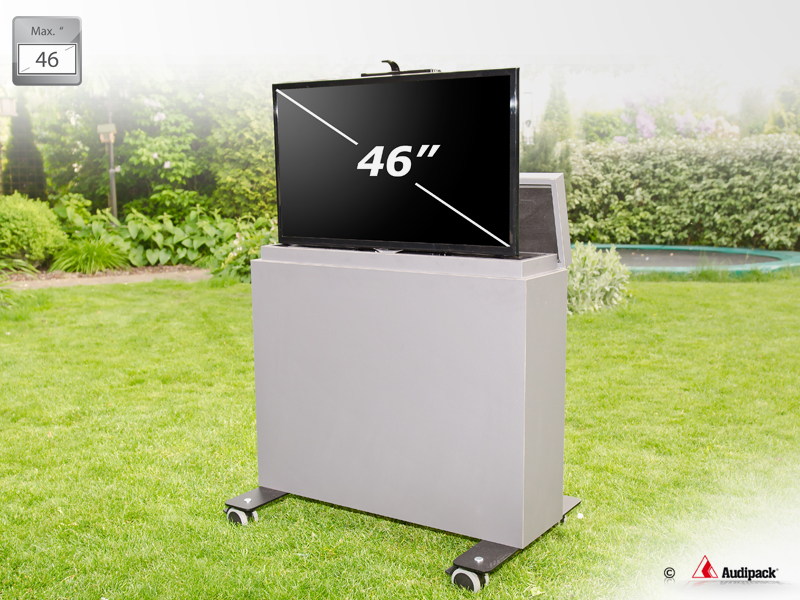Tv Kast Lift : Inch outdoor tv furniture with lift multimedia trolley
