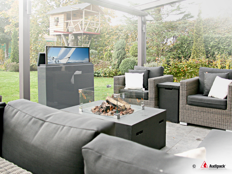 Situation - 65 Inch Outdoor TV Furniture With Lift - GardenView: Audipack, It's