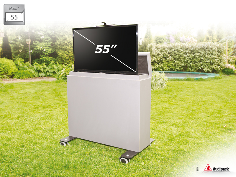 Garden View 55E - 65 Inch Outdoor TV Furniture With Lift - GardenView: Audipack, It's